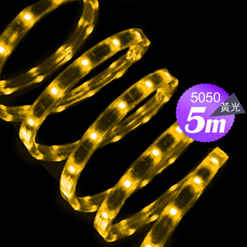 Link All  5050 60W/5米 60燈/LED黃光軟燈條(附變壓器)