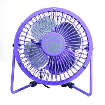 USB4吋紫迷你復古風扇