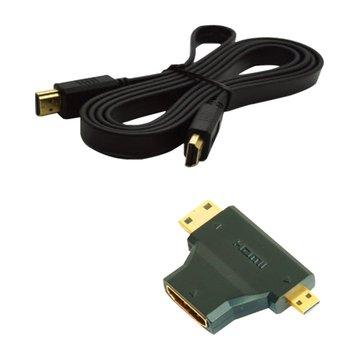 S.C.E 世淇 HDMI三用組合包 1.4版(1.5M扁線+轉接頭)
