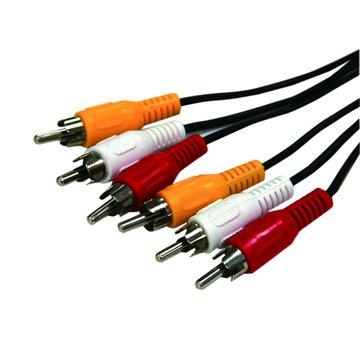 3RCA公-3RCA公 1.5M AV訊號線
