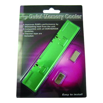 鋁製記憶體散熱器(綠)