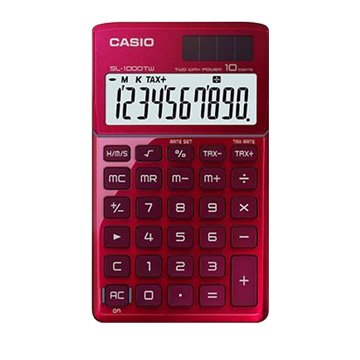 CASIO 卡西歐 SL-1000TW-RD 10位元攜帶型計算機(激情紅)