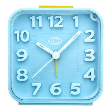 LB-257-BU 方形貪睡/夜燈鬧鐘(藍色)