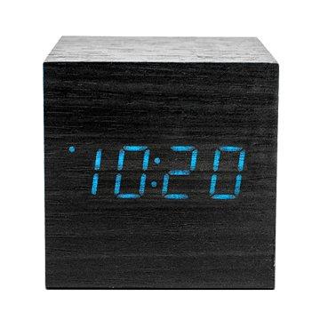 KINYO 金葉 TD-520 方形LED聲控木頭鬧鐘/黑