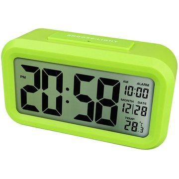 KINYO 金葉 TD-331G 簡約光控聰明鐘(綠)