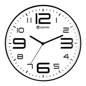 CL-141 簡約浮雕靜音掛鐘(14吋)白