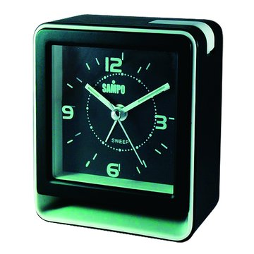 PY-Z1005ML(B)音樂方形鬧鐘(黑)(福利品出清)