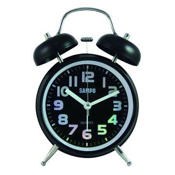 PY-Z1207ML圓形鬧鐘(黑)(福利品出清)