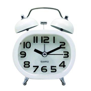 無敵王  SV-1308造型雙鈴鬧鐘(白)(福利品出清)