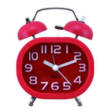 無敵王  SV-1308造型雙鈴鬧鐘(紅)(福利品出清)