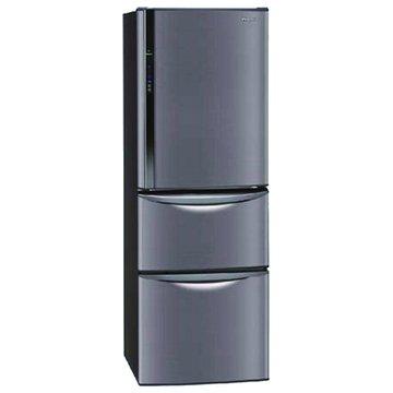 NR-C387HV-K 385L三門變頻琉璃黑電冰箱