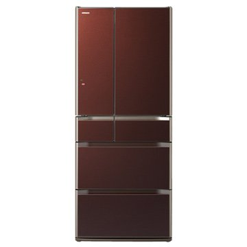 R-SF6200E(XT) 620L六門變頻琉璃棕日製冰箱(福利品出清)