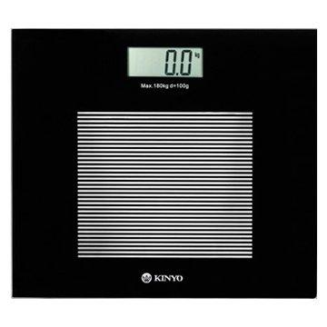 KINYO 金葉 DS-6583 黑晶電子體重計