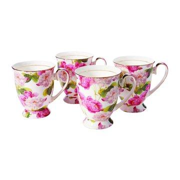 骨瓷花茶杯組(4入)(福利品出清)