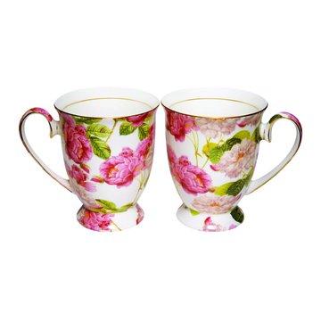 骨瓷花茶杯組(2入)(福利品出清)