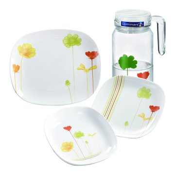 法國R46C3/C4樂美雅餐具組(大中小餐盤)+水壺