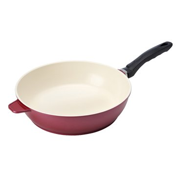 大家源  TCY-9328 28cm平底羽化厚釜陶瓷深煎鍋