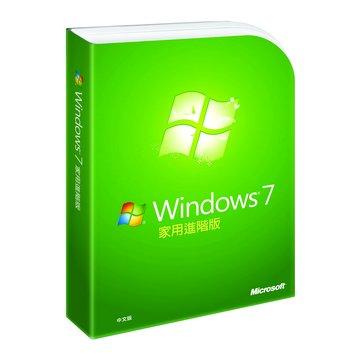Windows 7 家用進階-彩盒中文完整版