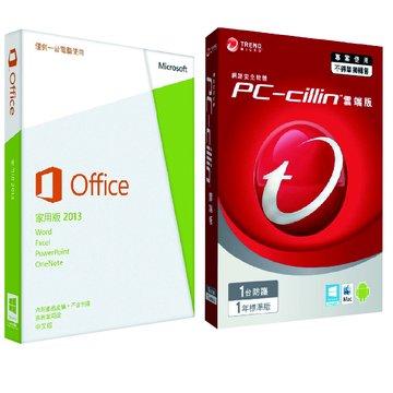 Office 2013家用中文(PKC) +PC cillin 2014 1Y1U