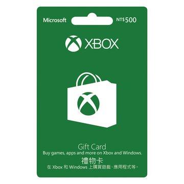 Microsoft 微軟 XBOX 禮物卡 NT$500-數位下載版