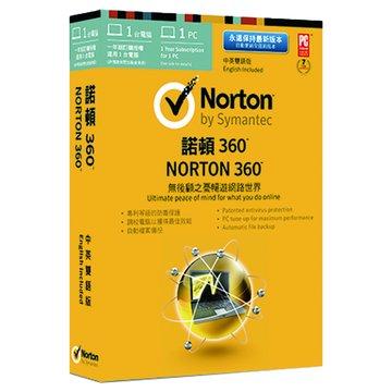 諾頓360 21.0 中英雙語1人1年版