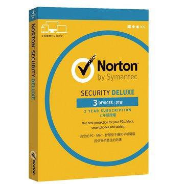 symantec 賽門鐵克 諾頓網路安全-進階版(Deluxe)-3台裝置2年