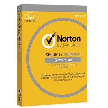 symantec 賽門鐵克 諾頓網路安全-專業版(Premium)-5台裝置2年