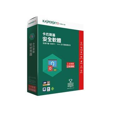 KASPERSKY 卡巴斯基 安全軟體 2017 1台2年